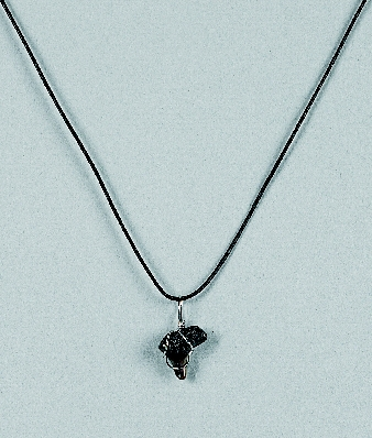 Missing image <06205.jpg> Group: 205 - SHARK TOOTH NECKLACE on black satin cord.