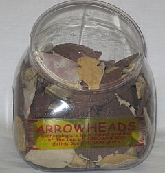 Missing image &lt;124040-sdw.jpg&gt; Group: 40401 - SMALL ARROWHEAD DISPLAY.  250 Arrowhead<BR>Average size: 1 - 1.5 inches
