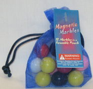 Missing image &lt;15376-12w.jpg&gt; Group: 364 - MAGNETIC MARBLES<BR>12 Marbles<br>with Mesh Carrying Bag