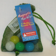 Missing image &lt;15376-6w.jpg&gt; Group: 376 - MAGNETIC MARBLES 6  Multi-Colored Marbles<BR>with Mesh Carrying Bag