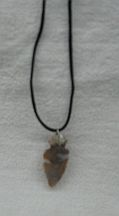 Missing image <154044satinarrowheadw.jpg> Group: 4044 - ARROWHEAD NECKLACE on Black Satin cord - Average size 1 - 1.5