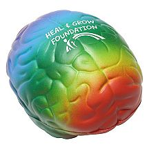 Missing image <155721rainbowbrainw.jpg> Group: 5721 - RAINBOW BRAIN STRESS RELIEF <BR>Get some brainpower with the power of squishy foam! Squeeze the Brain Stress Toy to feel smarter, regain focus, and unleash your inner genius. Ironically, squeezing the brain stress toy is a great remedy for headaches.<BR>