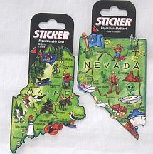 Missing image &lt;156020_state_sticker-w.jpg&gt; Group: 6020 - STATE MAP STICKER<BR> Repositional Vinyl