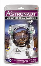 Missing image &lt;176545astrovanillaw.jpg&gt; Group: 6546 - ASTRONAUT VANILLA ICE CREAM SANDWICH <BR> Eat like the astronauts!