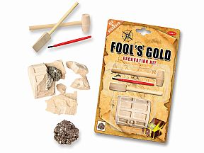 Missing image &lt;18459foolsgoldw.jpg&gt; Group: 459 - FOOL'S GOLD EXCAVATION<Dig out a piece of pyrite.
