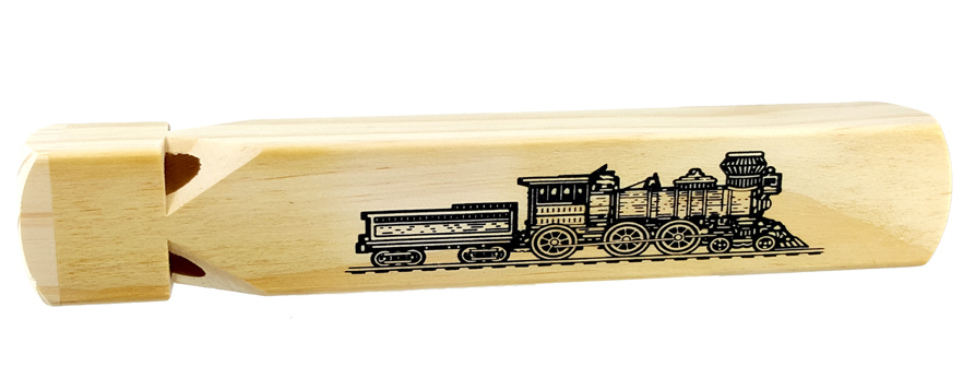 Missing image <6133_TrainWhistle_W.jpg> Group: 6133 - WOOD TRAIN WHISTLE<BR> 4 tone - 9 inch<br>Individually packaged in hangable polybag.
