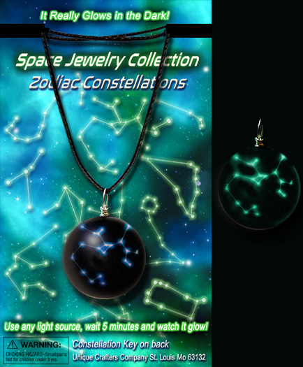 Missing image <6552_glonecklace_w.jpg> Group: 6552 - GLOW IN THE DARK CONSTELLATION NECKLACE, MIXED