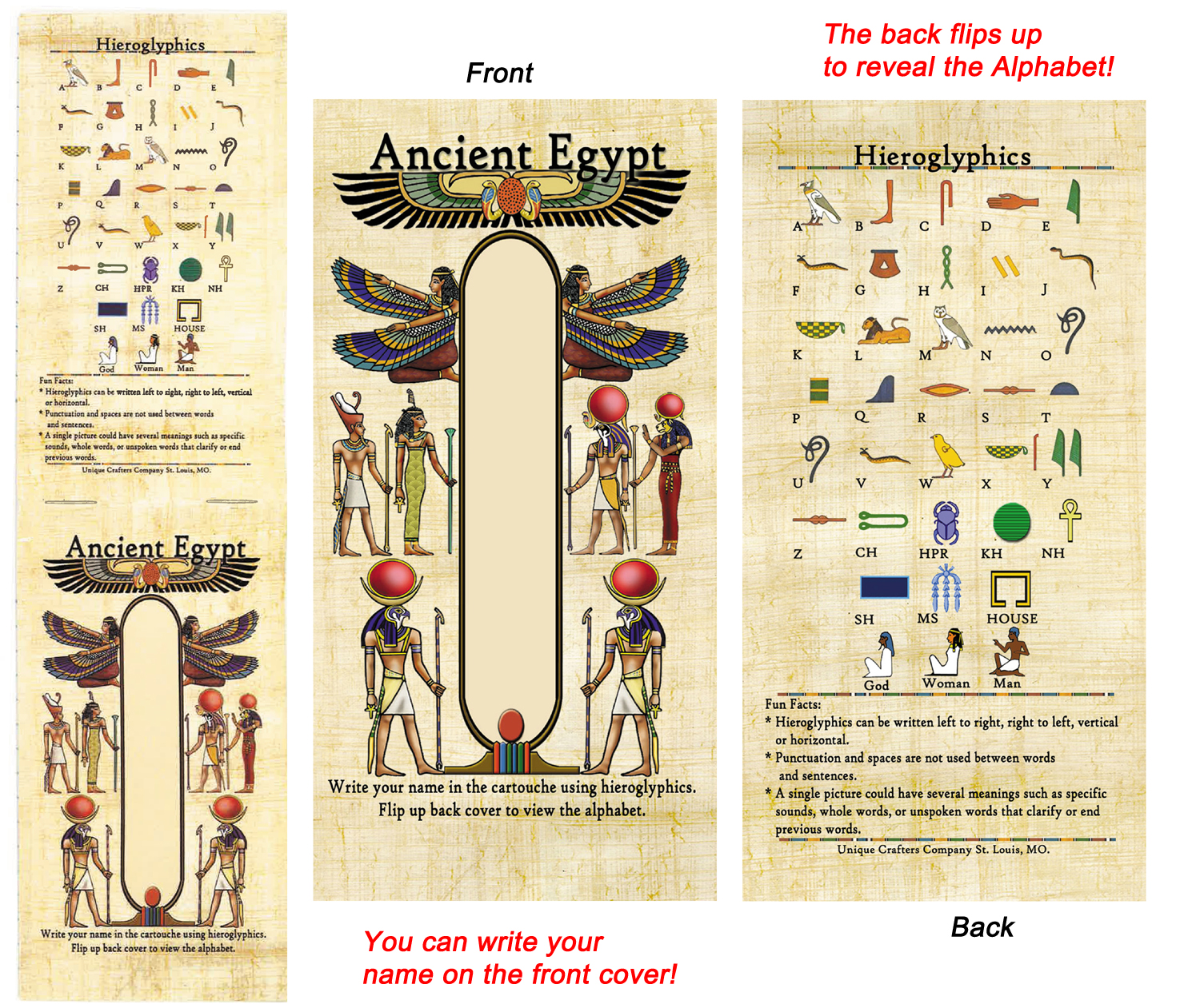 Missing image <82_egyptiannotepad_new_w.jpg> Group: 82 - EGYPTIAN NOTEPAD - NEW DESIGN!- Full Color. 20 lined pages. 2.75 x 4.75